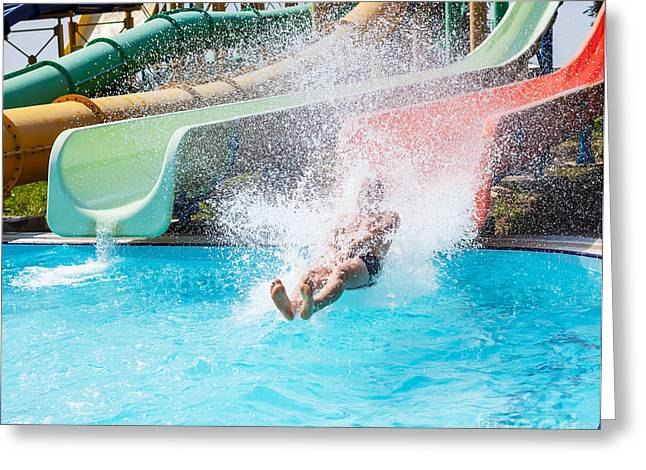 Aquapark Greeting Card