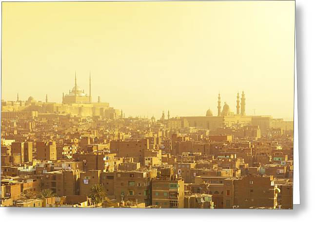 Arabian City In Yellow Gamma. Cairo Greeting Card