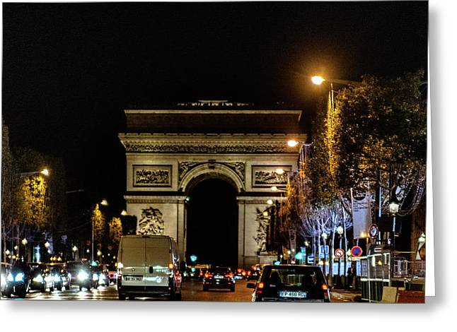 Greeting Card featuring the photograph Arc De Triomphe by Randy Scherkenbach