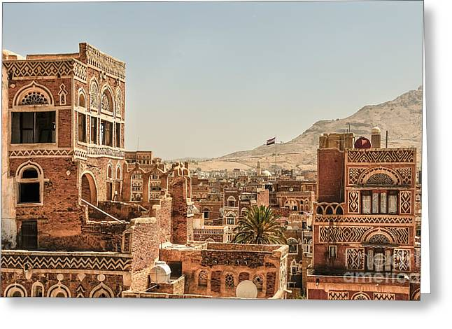 Architecture In Yemen Greeting Card