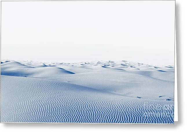 Arctic Desert. Winter Landscape With Greeting Card
