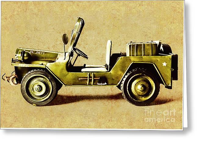 Army Jeep Greeting Card