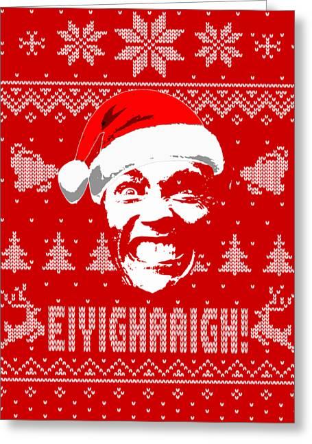 Arnold Schwarzenegger Christmas Shirt Greeting Card