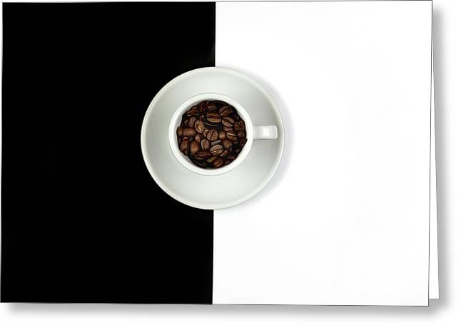 Greeting Card featuring the photograph Aromatic Coffee Beans On The Pot by Michalakis Ppalis