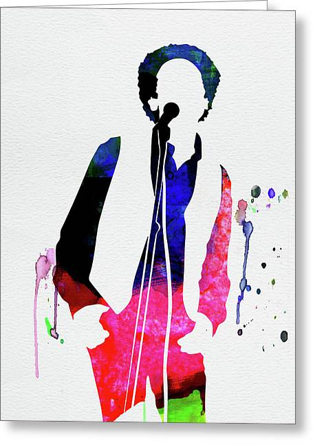 Art Garfunkel Watercolor Greeting Card