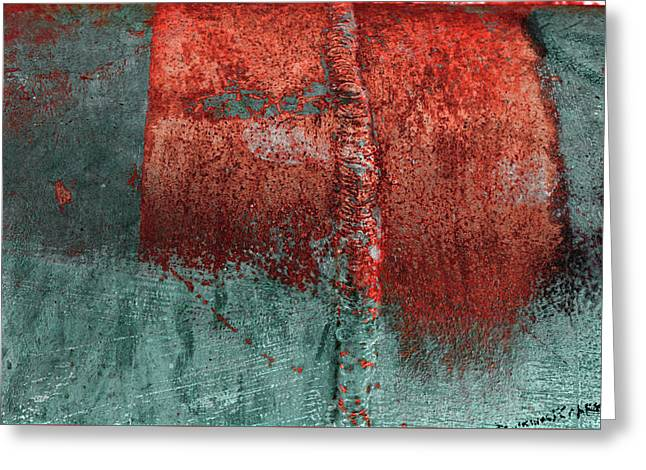 Greeting Card featuring the photograph Art Print Abstract 28 by Harry Gruenert
