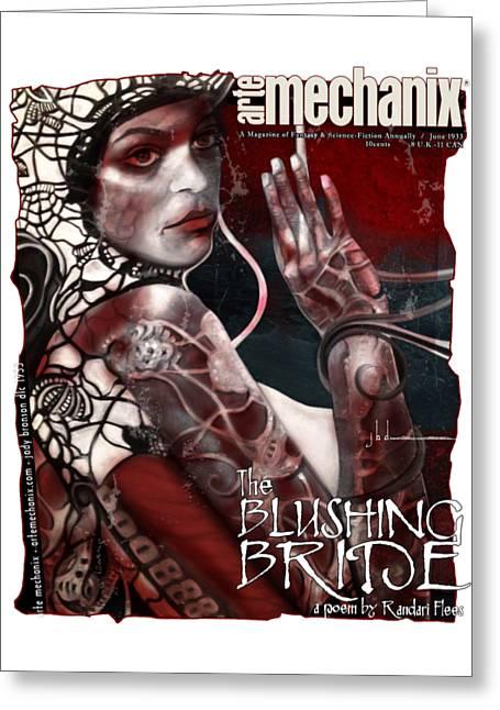 arteMECHANIX 1933 The BLUSHING BRIDE GRUNGE Greeting Card