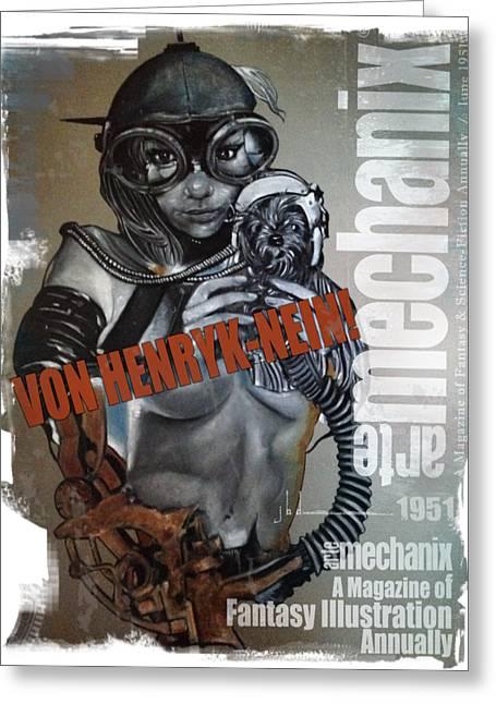 arteMECHANIX 1951 VON HENRYK-NEIN GRUNGE Greeting Card