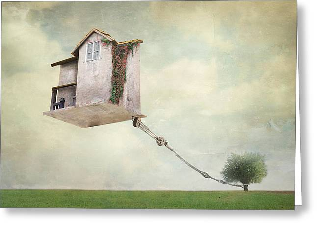 Artistic Image Representing An House Greeting Card