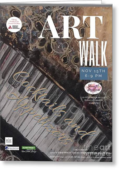 Artwalk Art Show Scottsdale  Greeting Card