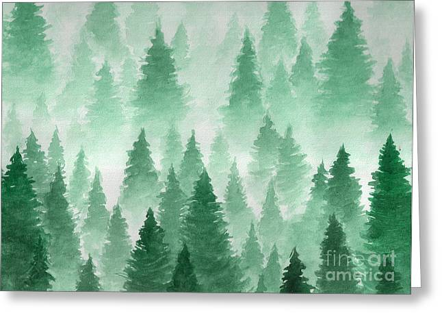 Artwork. Background Painted With Greeting Card