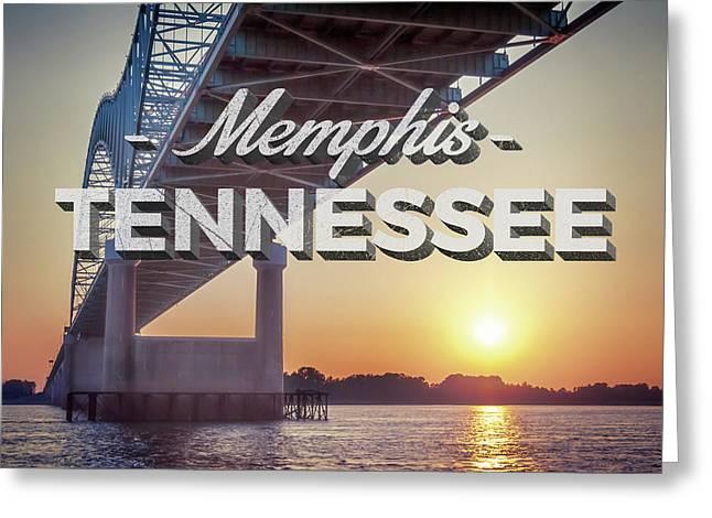 Bridge Over Mississippi River Greeting Card