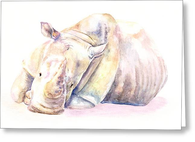 Rhino Two Greeting Card