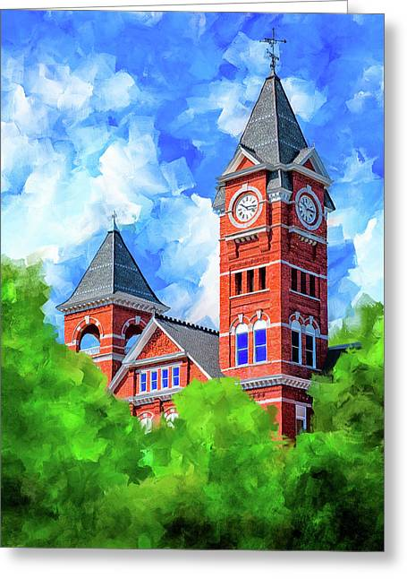 Memories Of Auburn - Samford Hall Greeting Card