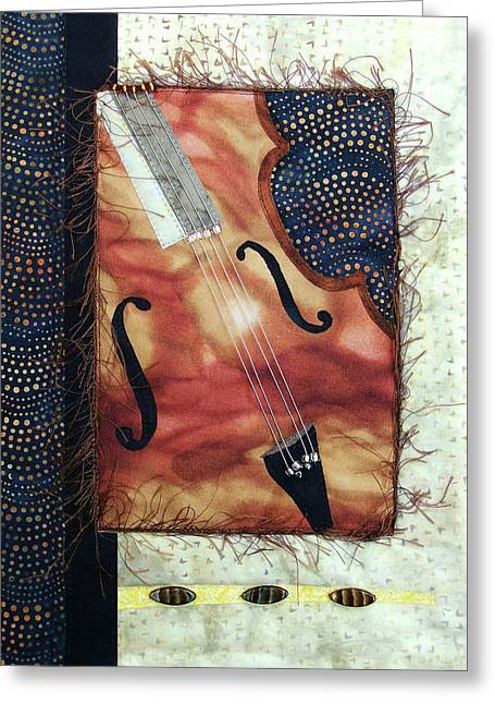 All That Jazz Bass Greeting Card