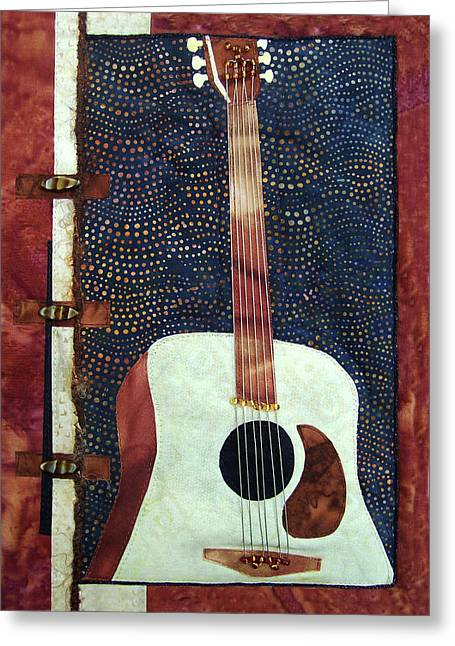 All That Jazz Guitar Greeting Card