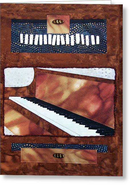 All That Jazz Piano Greeting Card