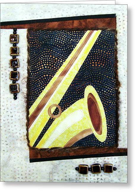 All That Jazz Saxophone Greeting Card