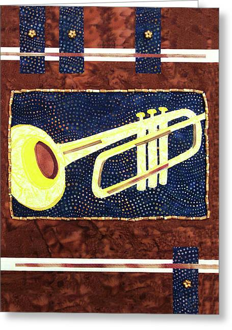 All That Jazz Trumpet Greeting Card