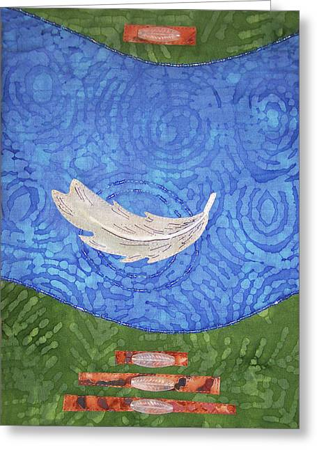 Floating Feather Greeting Card