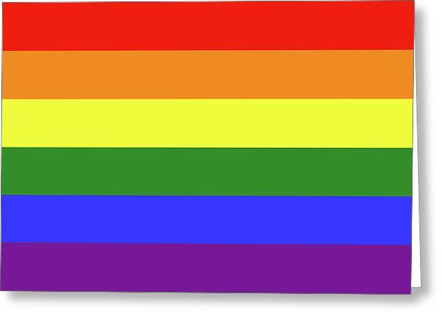 Lgbt 6 Color Rainbow Flag Greeting Card