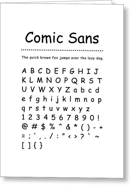 Comic Sans - Most Wanted Greeting Card