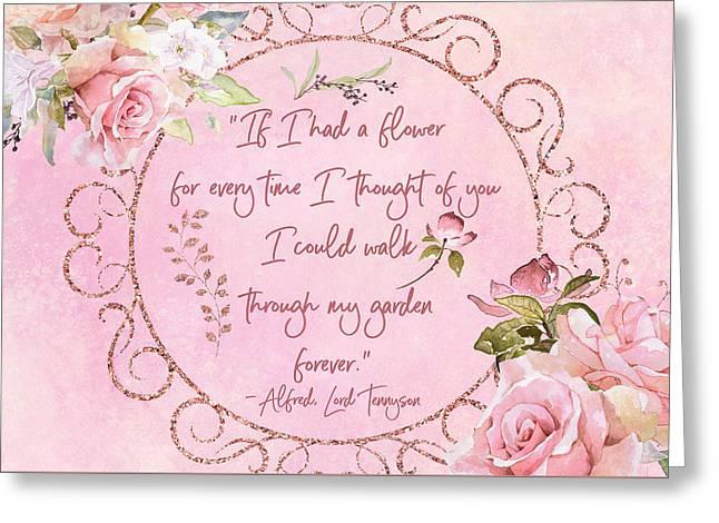 If I Had A Flower Love Artwork Greeting Card