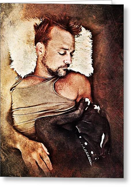 Flanery And Tex Greeting Card