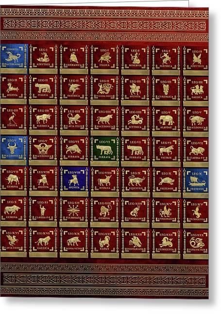 Standards Of Roman Imperial Legions - Legionum Romani Imperii Insignia Greeting Card