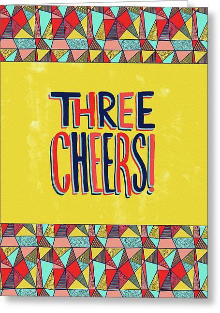 Three Cheers Greeting Card