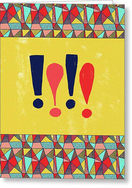 Exclamations Pop Art Greeting Card