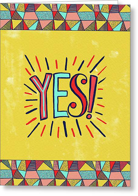 Yes Greeting Card