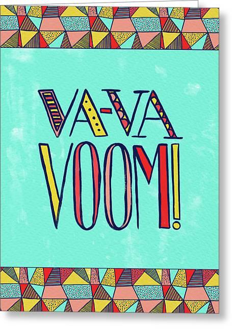 Va Va Voom Greeting Card