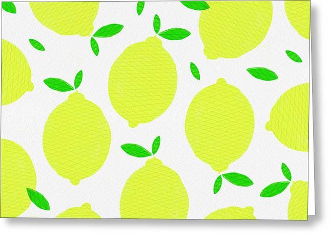 Sunny Lemon Pattern Greeting Card