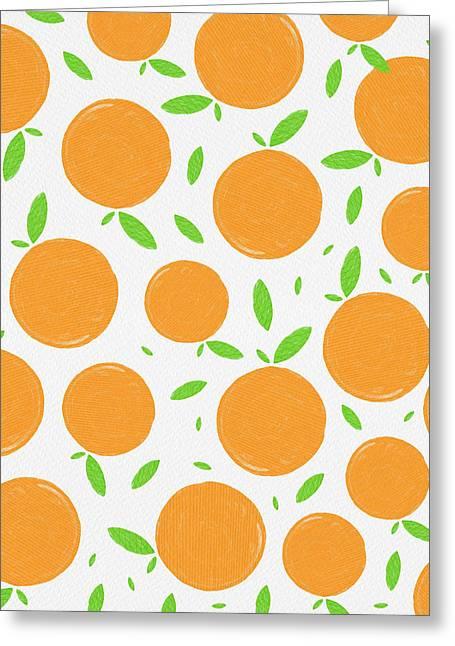 Sunny Citrus Pattern Greeting Card