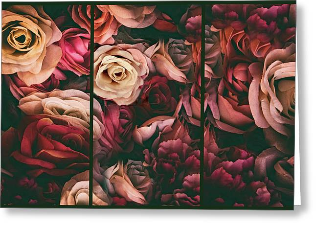 Rose Petal Triptych Greeting Card