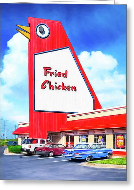 Marietta's Big Chicken Greeting Card