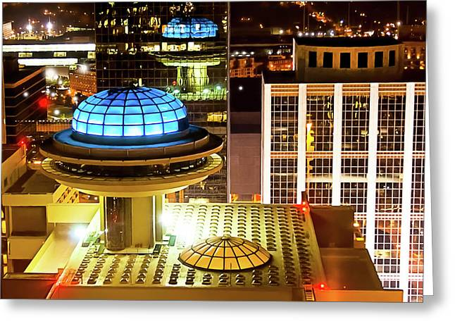 Yesterday's Future - Classic Atlanta Skyline Greeting Card