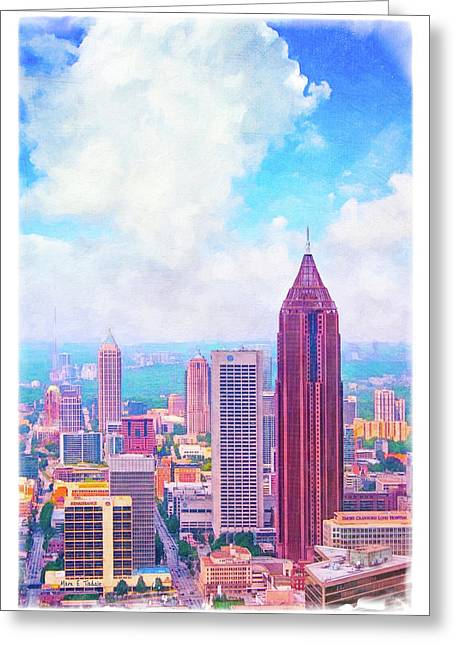 Classic Atlanta Midtown Skyline Greeting Card