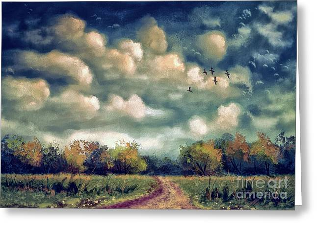 As August Slips Into Autumn Greeting Card