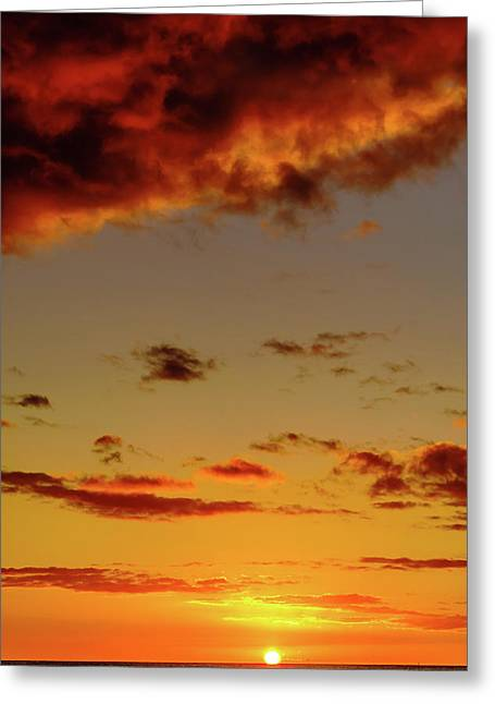 As The Sun Touches Greeting Card