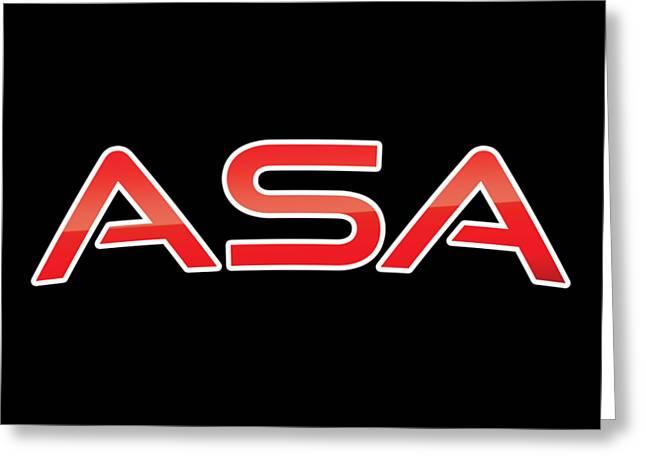 Asa Greeting Card