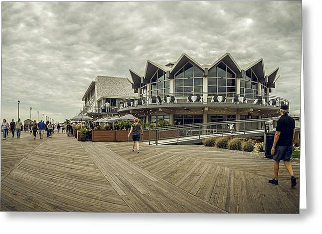 Asbury Park Boardwalk Looking South Greeting Card