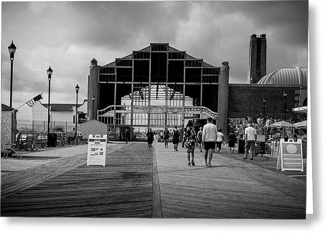 Asbury Park Boardwalk Greeting Card