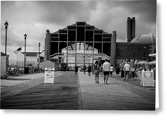 Greeting Card featuring the photograph Asbury Park Boardwalk by Steve Stanger