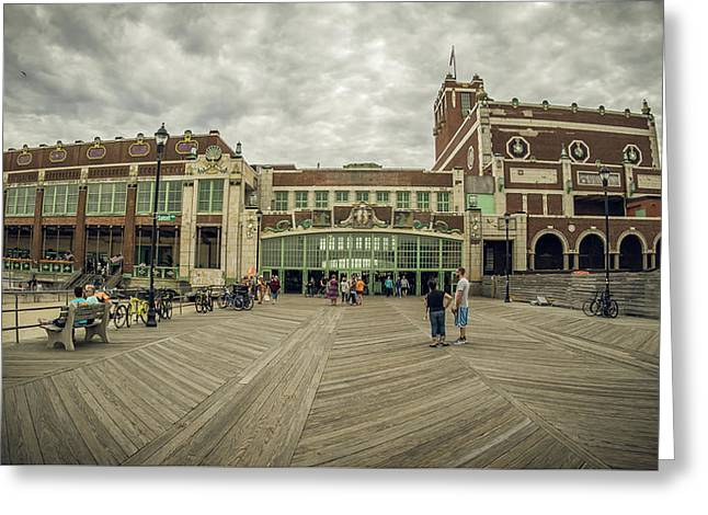 Greeting Card featuring the photograph Asbury Park Convention Hall by Steve Stanger