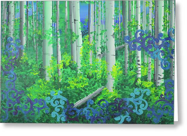 Aspens In July Greeting Card