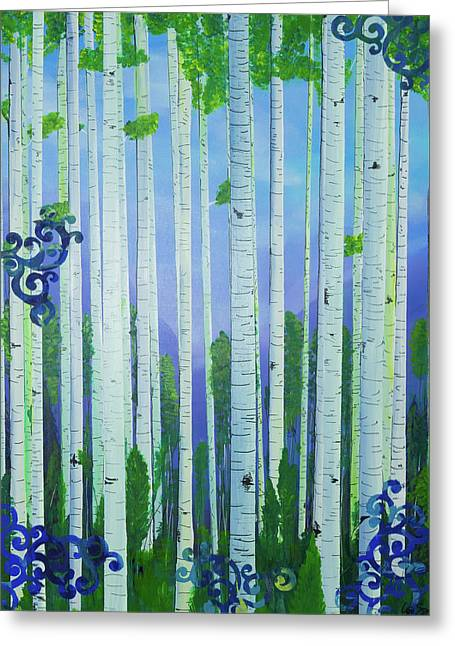Aspens In Summer Greeting Card