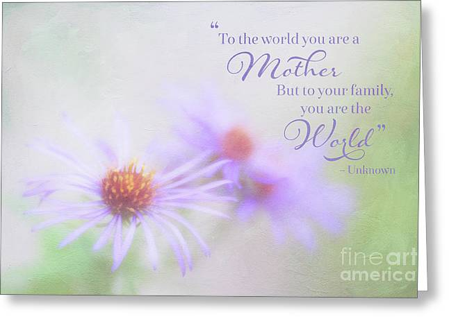 Asters For Mother's Day Greeting Card