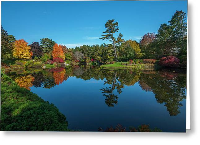 Greeting Card featuring the photograph Asticou Reflection by Rick Hartigan
